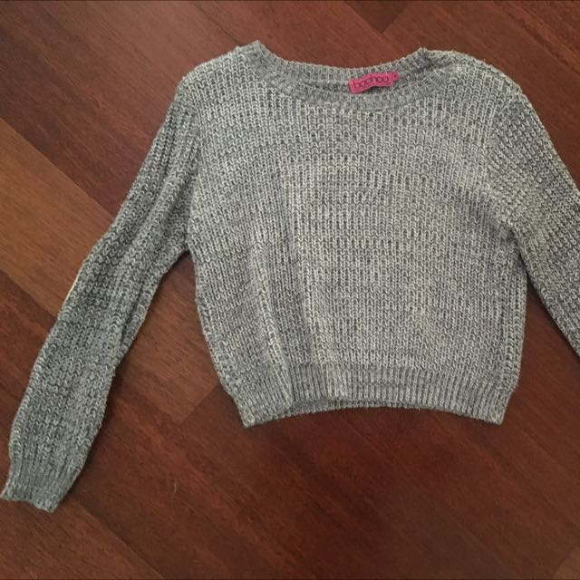 BooHoo Crop Sweater