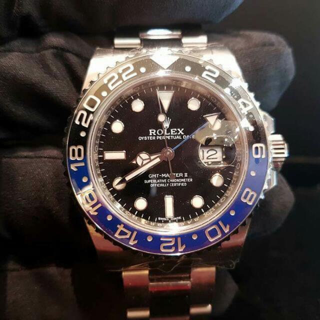Brand New Rolex Gmt Master Ii 116710 Blnr Batman 40mm Alphanumeric Series Undated Men Watch