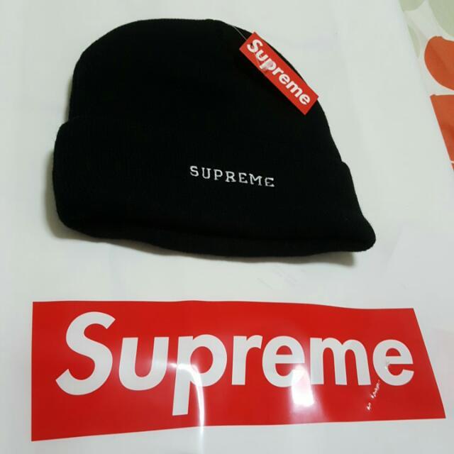 08e9d5084b Brand New Supreme X Timberland Black Beanie   120.