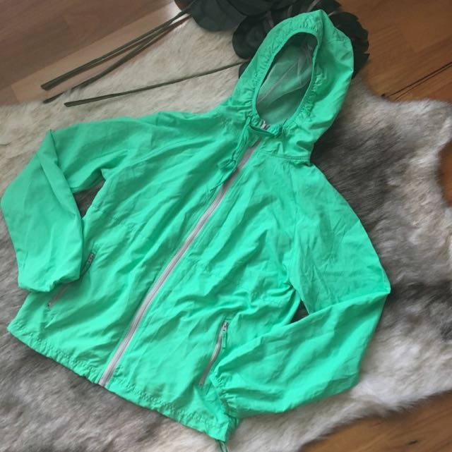 Bright Green Spray Jacket Size L