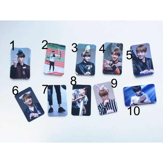 BTS Jungkook Photocards