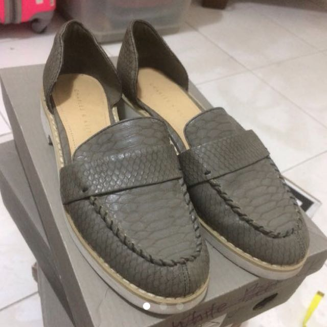 Charles and Keith loafers / platform / creeper