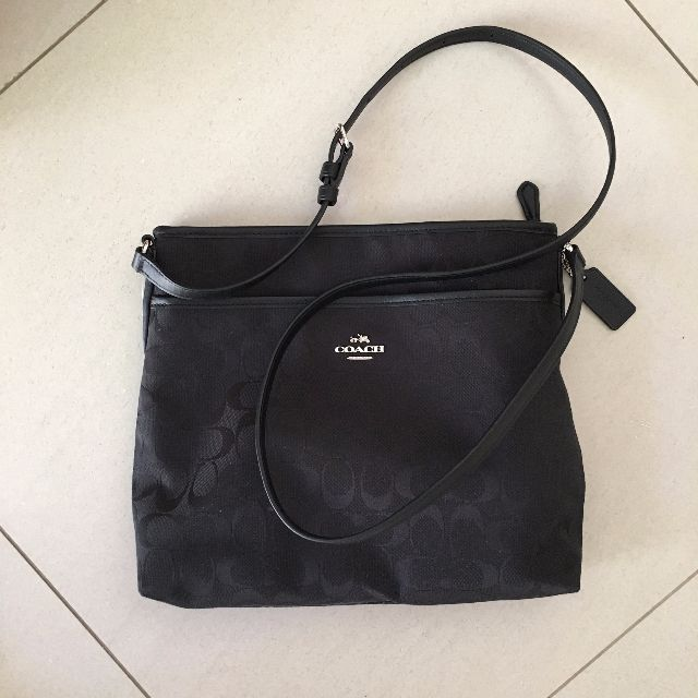 Coach Canvas Bag For Women Black Crossbody Brand New