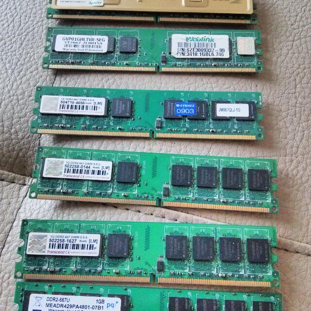 DDR2 667 1GB 六片