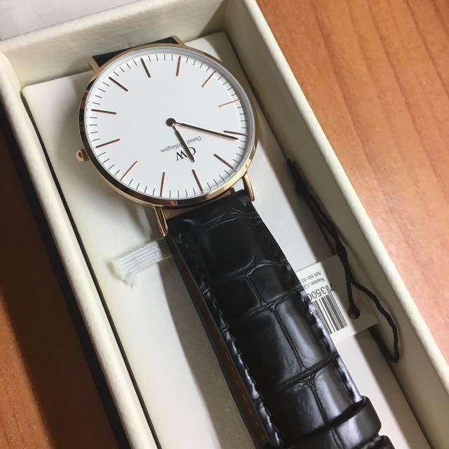 Dw 近全新錶徑40mm 白玫瑰金 手錶