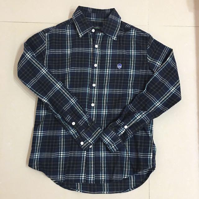 男款✨ECSTASY 挺版厚棉格紋襯衫