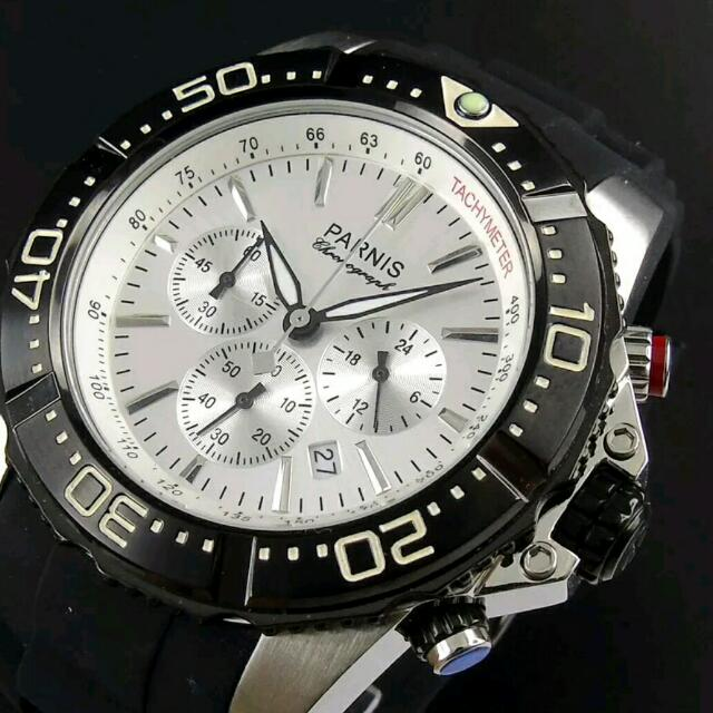 ✈Free Shipping ✈ 45mm QUARTZ MOVEMENT YACHT Style CHRONOGRAPH WATCH