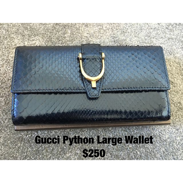 Genuine Gucci Python Leather Wallet