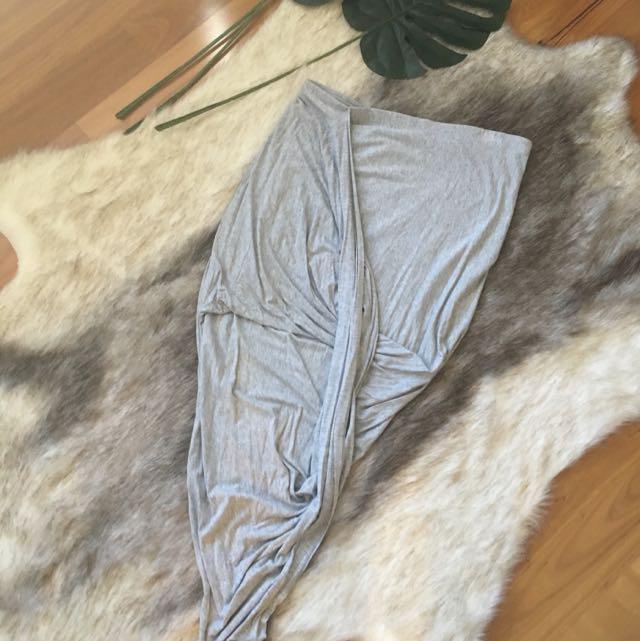 Grey Marle Drape Skirt Size 14