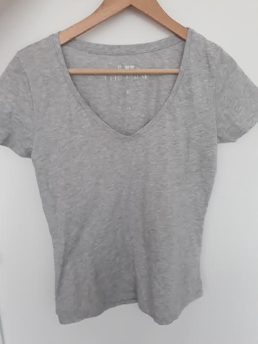 Grey V neck top