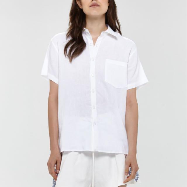 Hansen & Gretel Linen Button Up Size  12