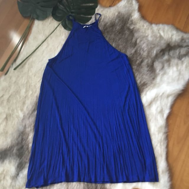 H&M Basic Electric Blue Minidress Size L