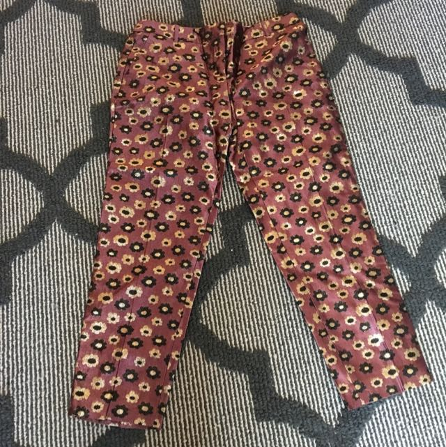 JCrew Embroidered Pants Size 4