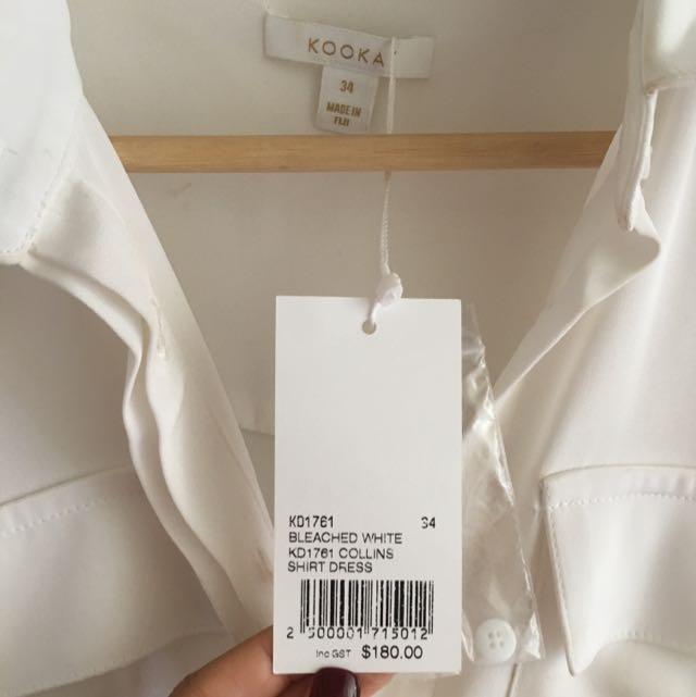 PRICE LOWERED: KOOKAI White Collin Shirt Dress