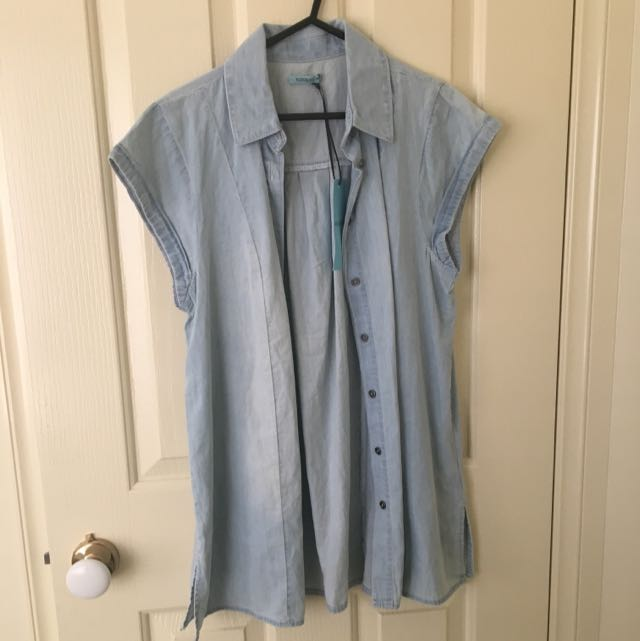 Kookai Chambray Cuffed Shirt