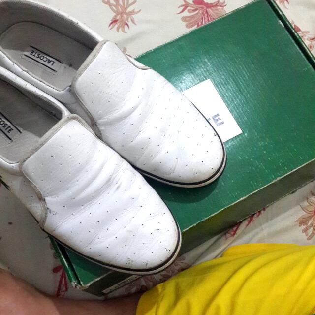 LACOSTE White Slip On!