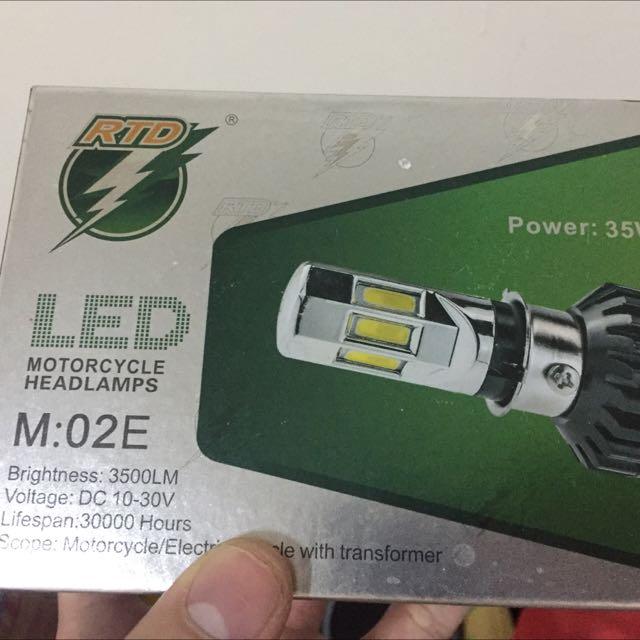 超白光機車大燈LED燈泡