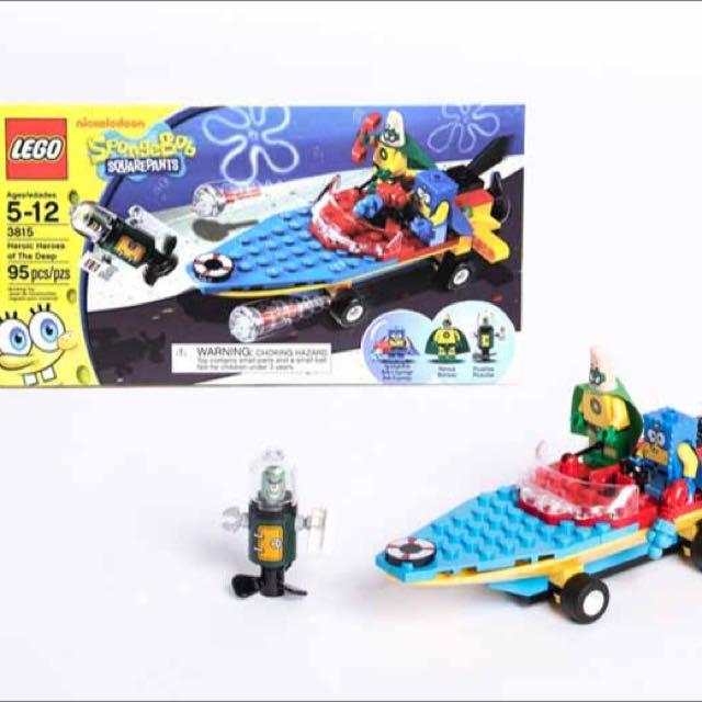 Lego Spongebob Squarepants Toys Games Bricks Figurines On