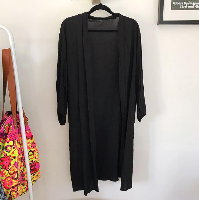 Light Black kimono