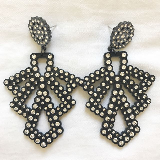 Mimco Acetate And Crystal Earrings