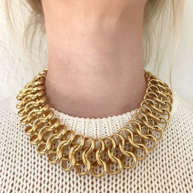 Mimco Gold Tone Chain Necklace