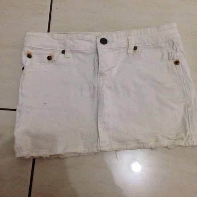 Mini Skirt White