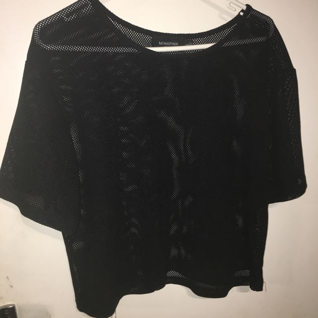 Minkpink Mesh Top