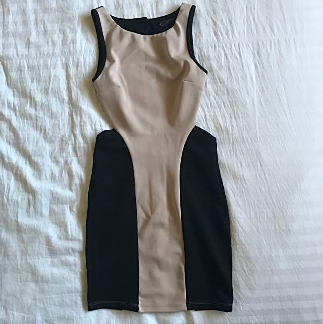 Miss Selfridge Petite AU/UK6 Cocktail Cut Out Dress