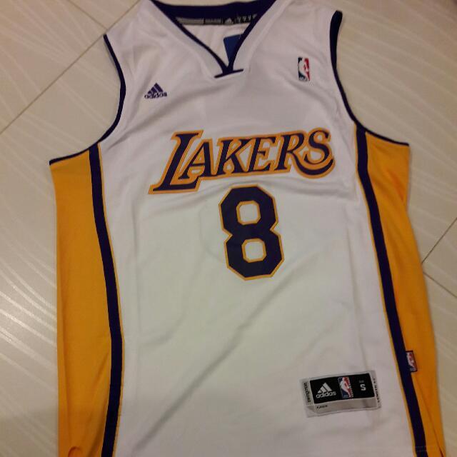 the best attitude 4cb92 c1dde NBA LA LAKERS KOBE BRYANT 8 WHITE, Sports, Sports Apparel on ...