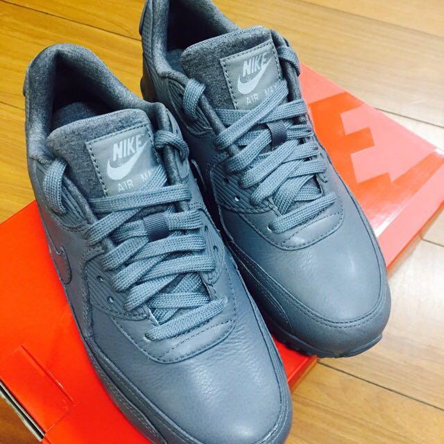 Nike WMNS AIR MAX 90 PINNACLE 皮革灰#二手品牌好鞋