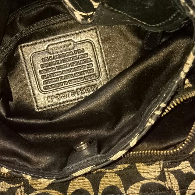 Original Coach Bag W Serial Number Preloved Women S Fashion Bags Wallets On Carou