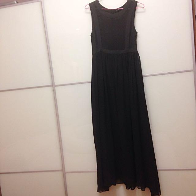 PAZZO黑色網紗長裙 #我的旋轉衣櫃