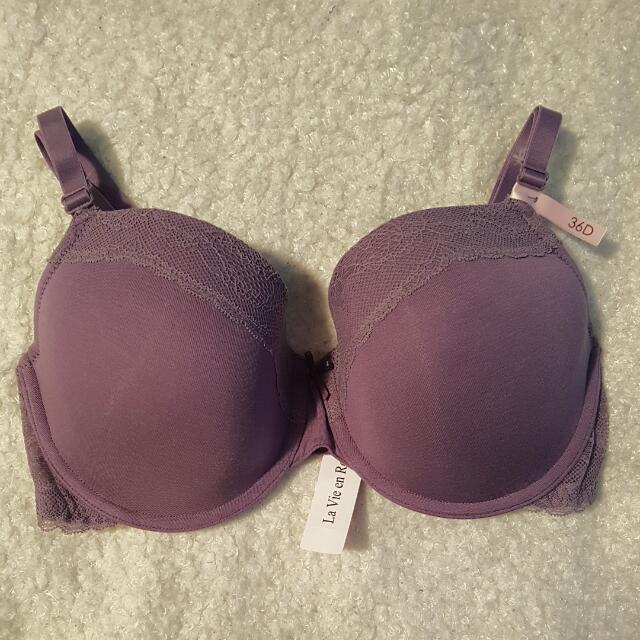 36D Purple La Vie En Rose Bra