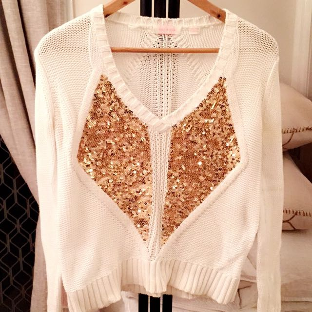 Sass & Bide Knitted Jumper With Gold Embellishment