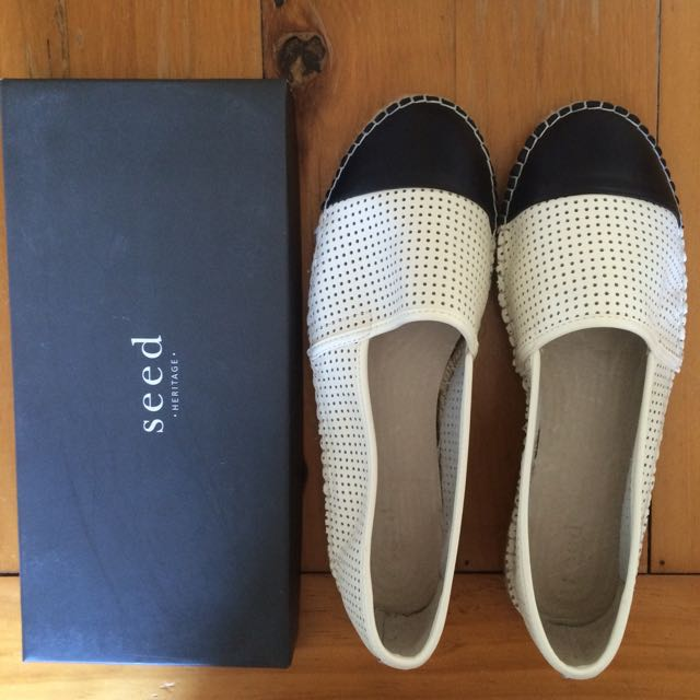 Seed Heritage Ava Leather Espadrilles