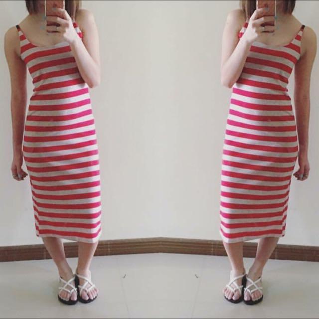 semi maxi dress fit