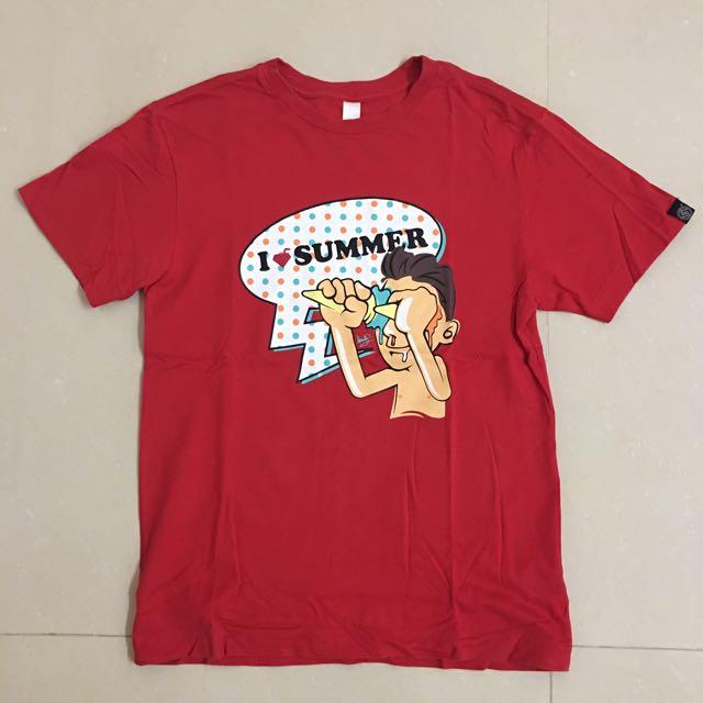 男款✨STAGE  I ❤️ Summer短T恤