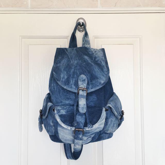 Street Level Denim Backpack