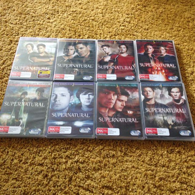 Supernatural 8 Seasons DVD