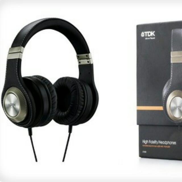 TDK ST800 HIFI Headphones W/ In-line Equalizer & Display
