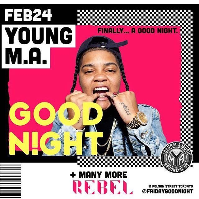 This Friday Feb 24 @ REBEL - Young MA Tickets $30