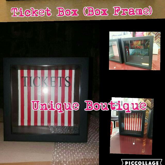 Ticket Box Box Frame Meaningful Gift