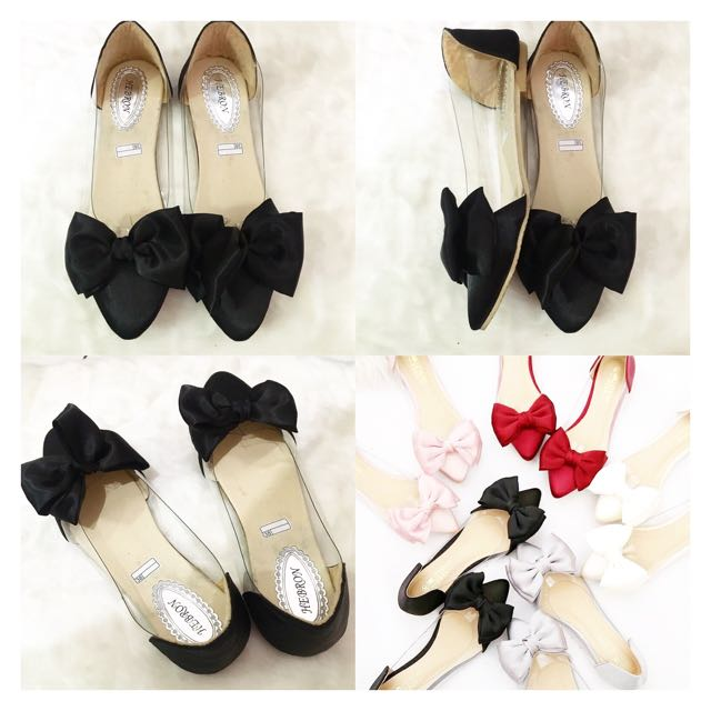 Transparant Bow Shoes