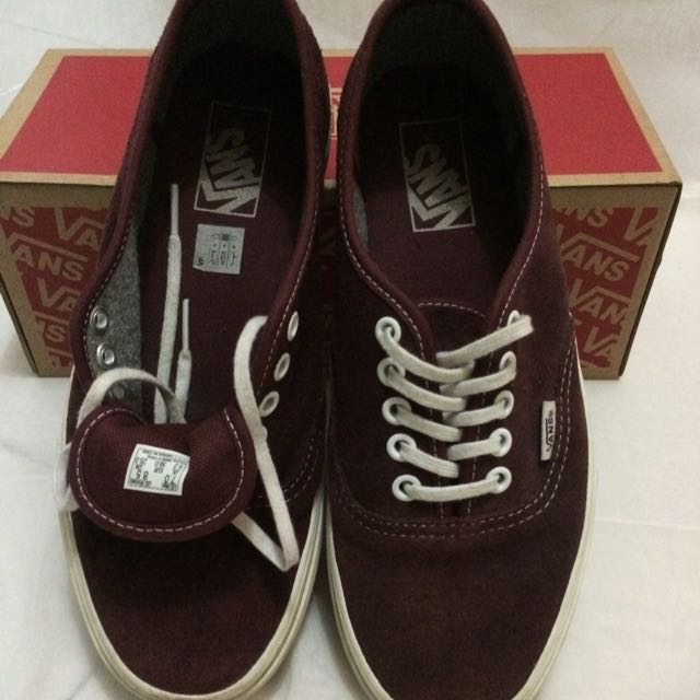 VANS Authentic Varsity Suede Maroon