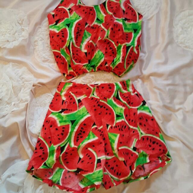 Watermelon Two Piece Playsuit