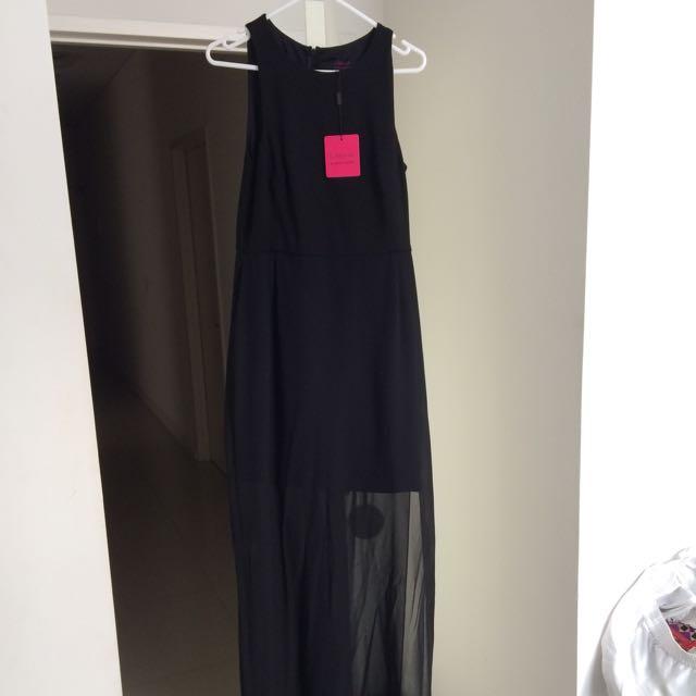 Wayne Cooper Long Black Dress