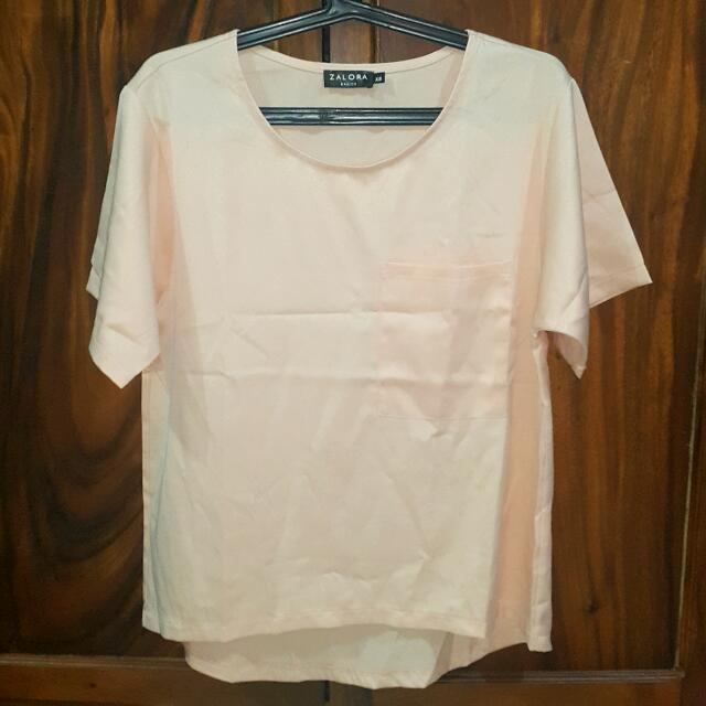 Zalora Peach Blouse