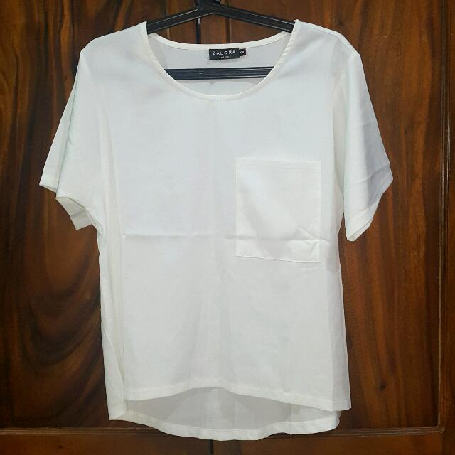 Zalora White Blouse