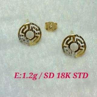 Authentic Saudi Gold - Earrings