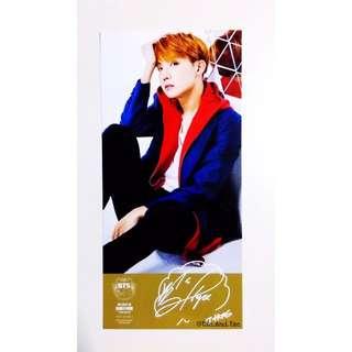 """BTS Official """"Best of BTS"""" Deluxe Ed. Japan Version Postcards - J-Hope"""